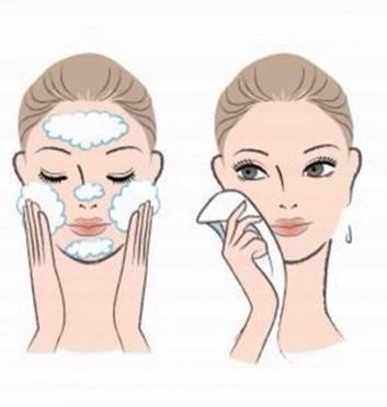 lave o rosto