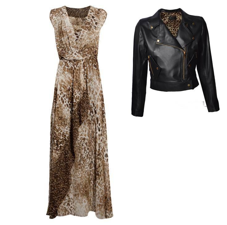 vestido longo inverno e jaqueta na cor preta
