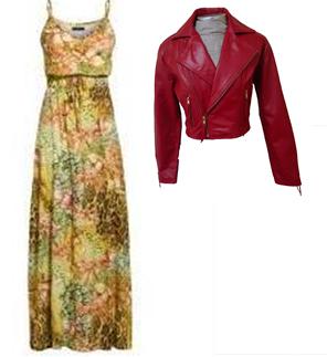 vestido longo de inverno e jaqueta