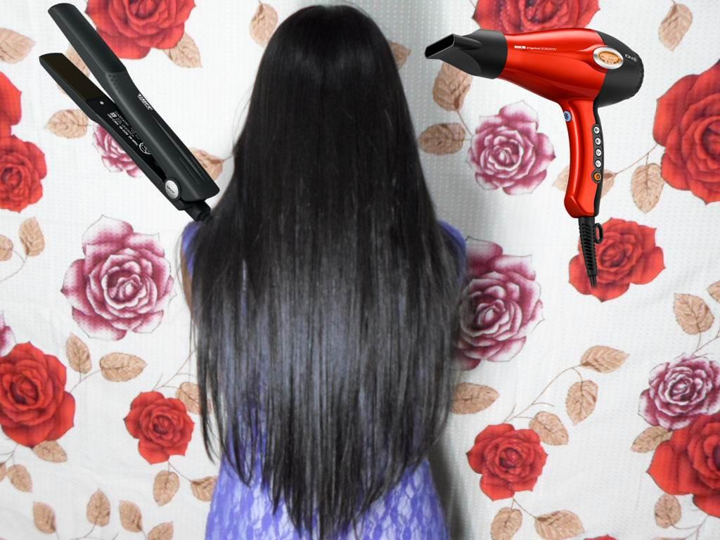 Como alisar o cabelo sem secador e chapinha