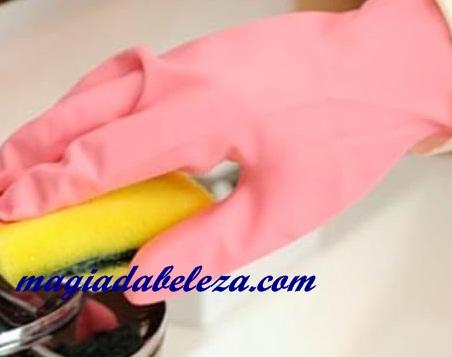 evite o contato com produtos quimicos
