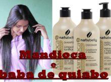 kit natubelly mandioca e baba de quiabo