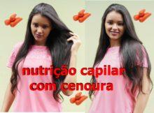 nutrição capilar com cenoura