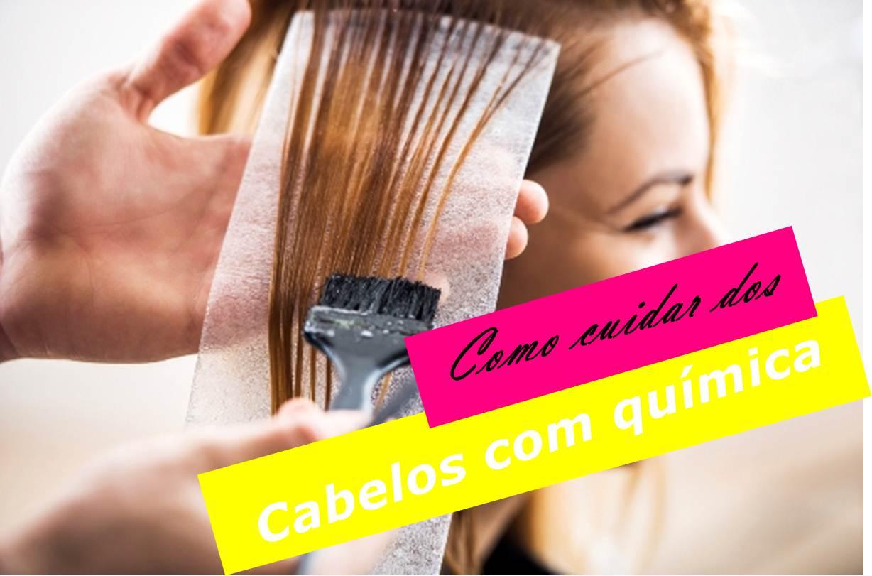 como cuidar dos cabelos com química