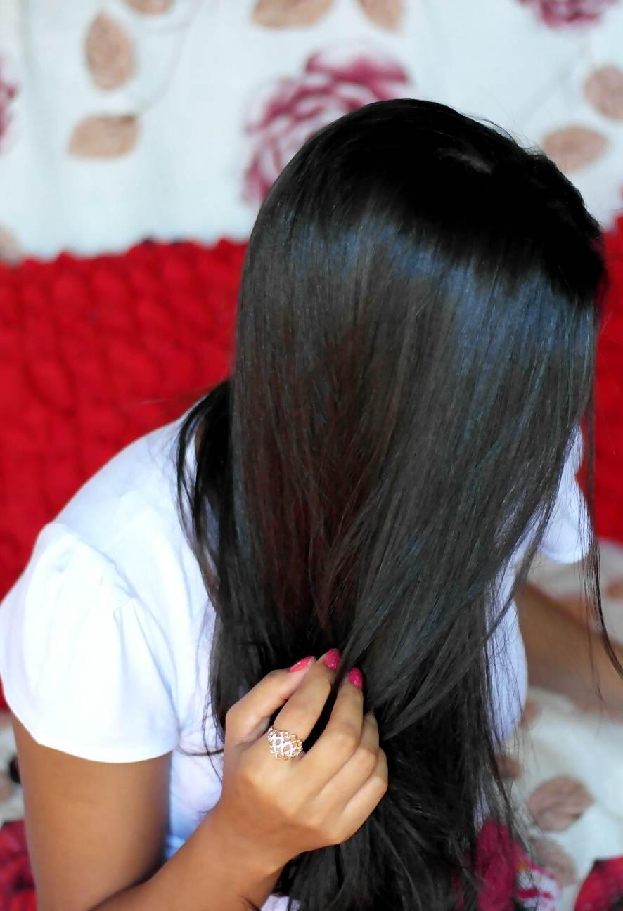 cabelo liso espelhado em casa
