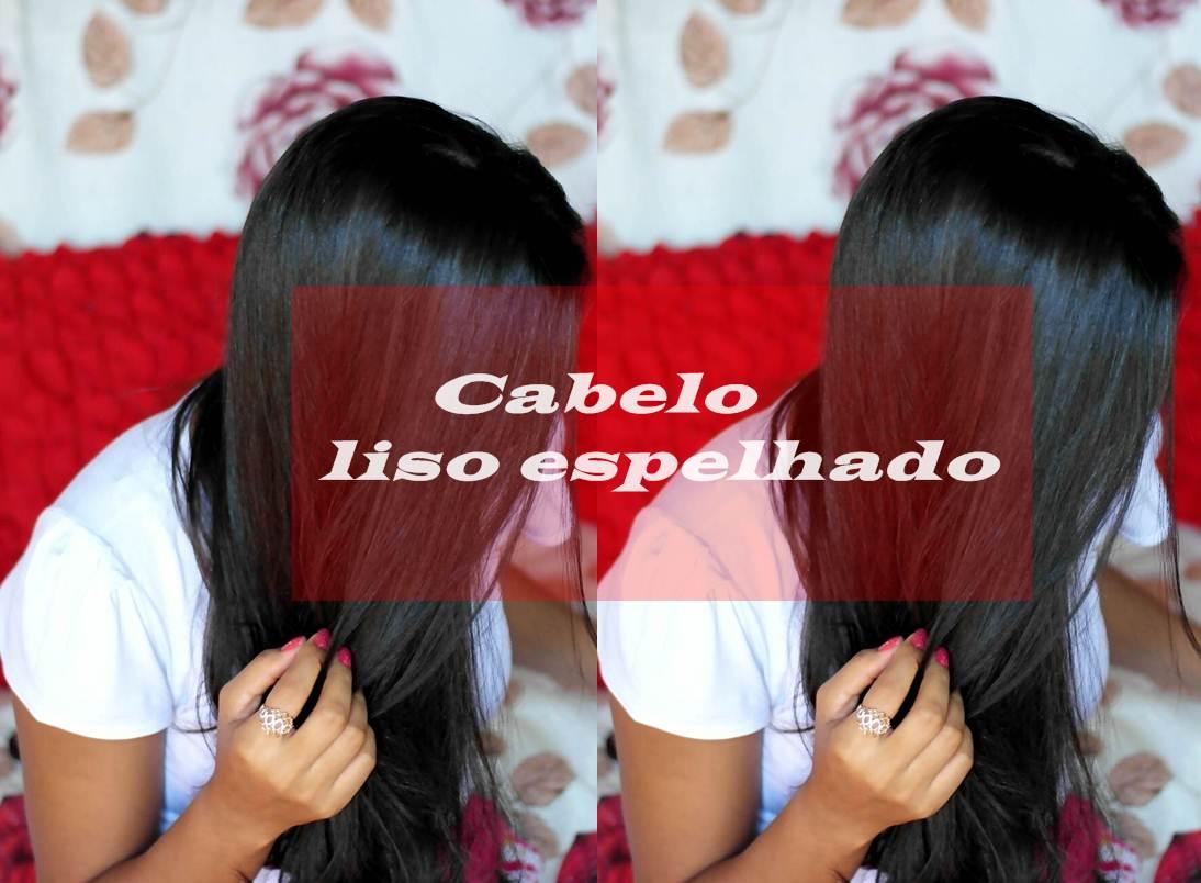 cabelo liso espelhado