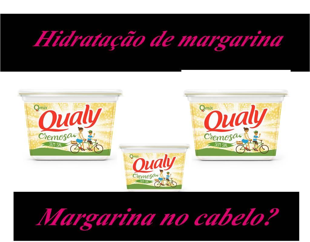 hidratação caseira de margarina