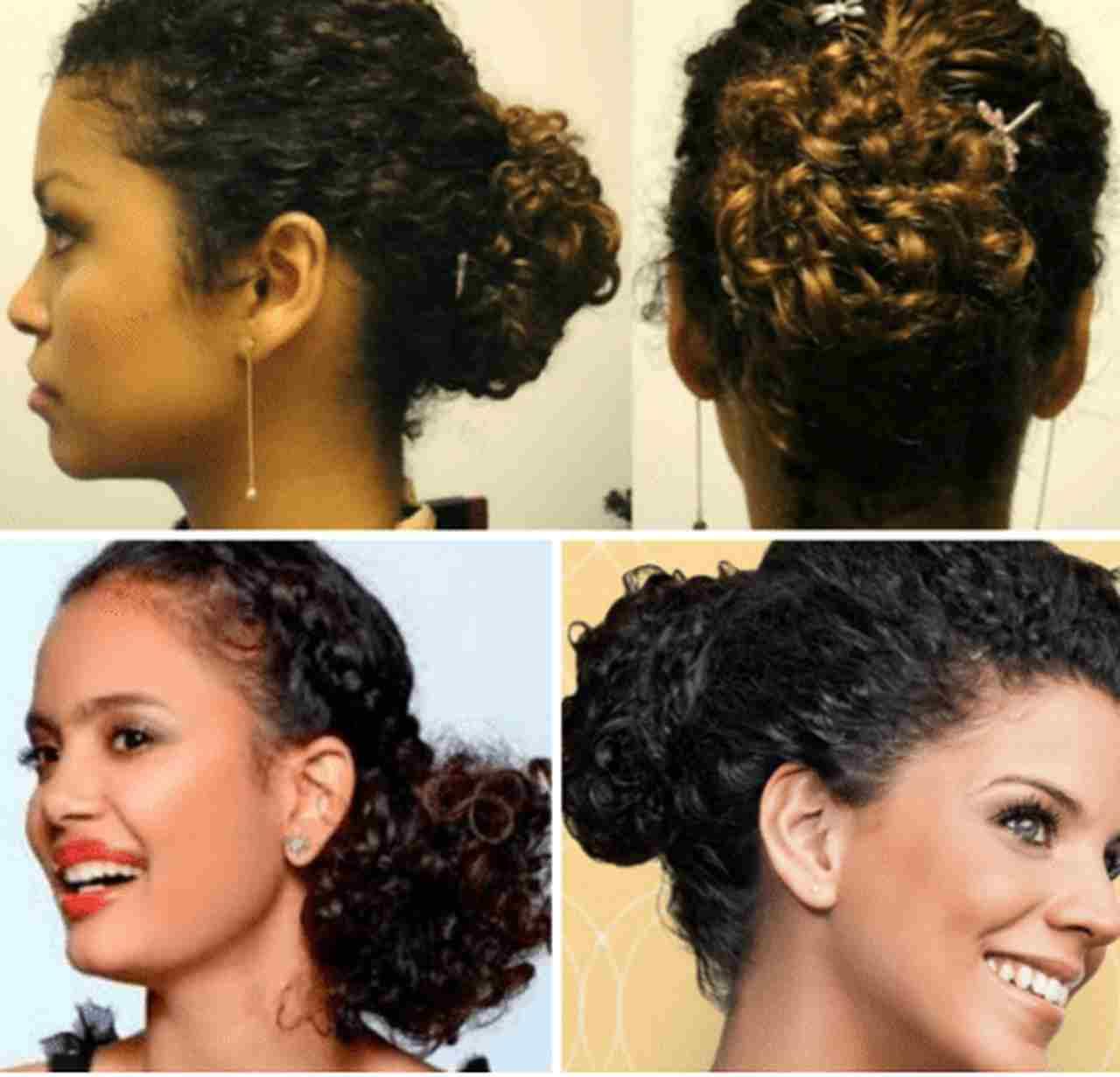 penteados em transição