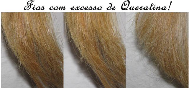 cabelo com excesso de queratina