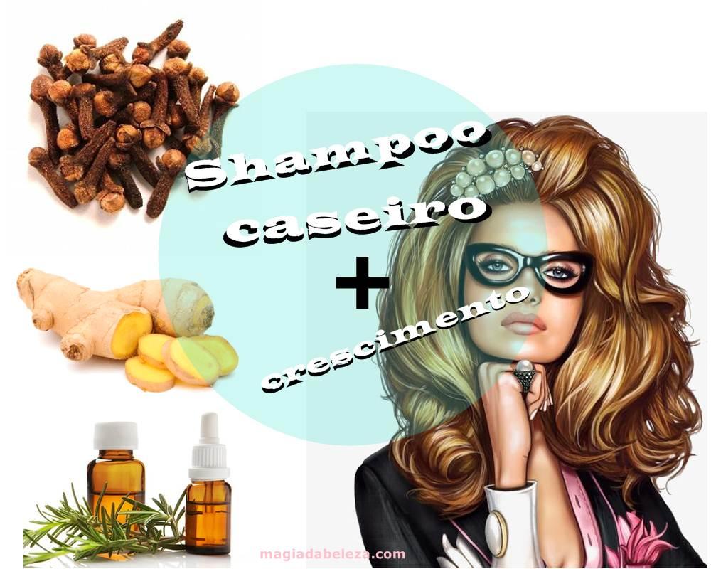 shampoo caseiro para crescimento capilar