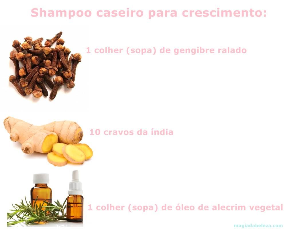 shampoo caseiro de gengibre
