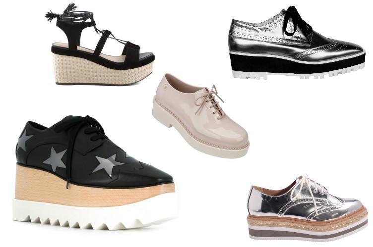 sapatos Flatforms moda 2019