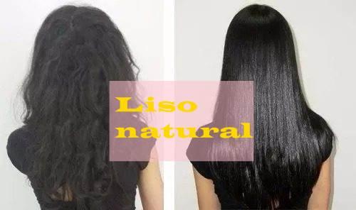 cabelo liso escorrido efeito natural