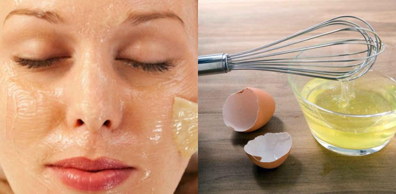 máscara facial com clara de ovo e maizena