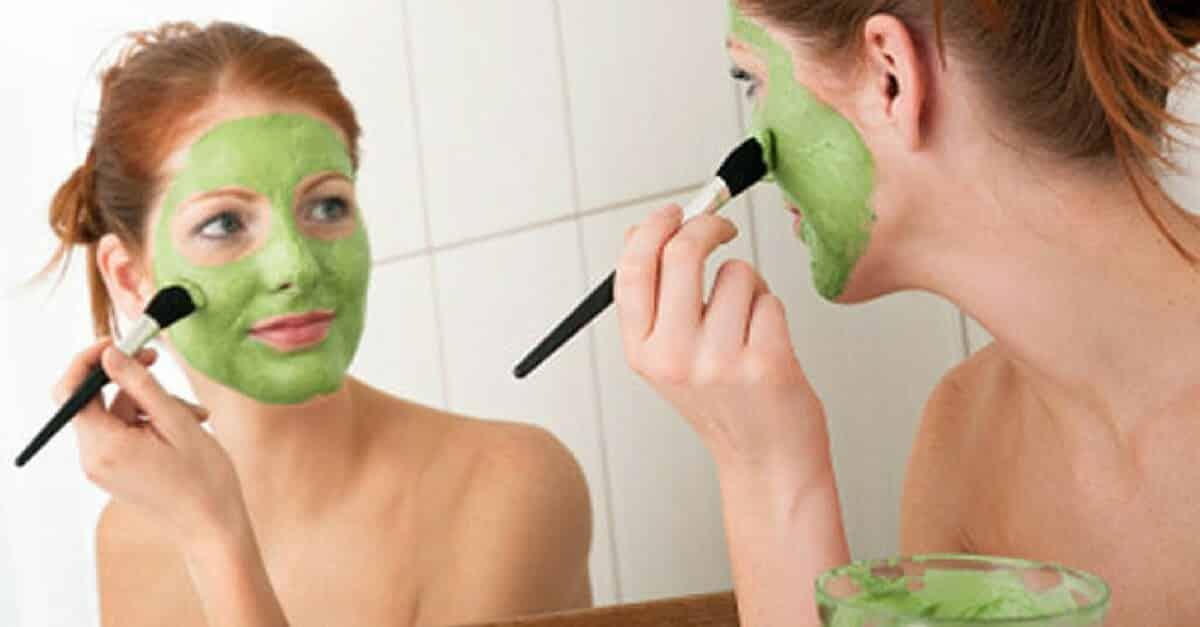 máscara facial de abacate