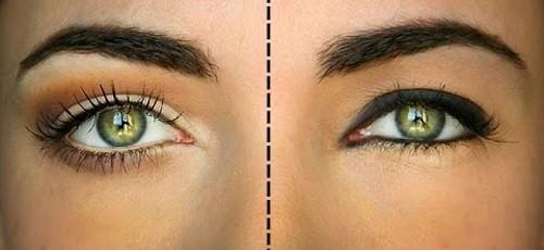 olhos maiores com o make up